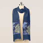 """Hokusai Feminine Wave Japanese Vintage Fine Art Scarf<br><div class=""""desc"""">Katsushika Hokusai Feminine Wave Japanese Vintage Fine Art Japanese artist Hokusai was a master of Japanese Ukiyo-e woodblock printing. His influences also stretched to his western contemporaries in nineteenth century Europe whose new style Art Nouveau, or Jugendstil in Germany, was influenced by him and by Japanese art in general. This...</div>"""
