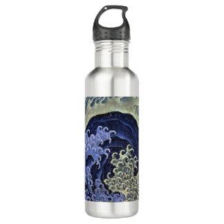 Hokusai Feminine Wave Water Bottle