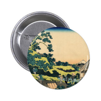 Hokusai: Fuji seen from the Mishima pass Pinback Buttons
