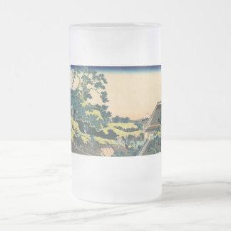 Hokusai: Fuji visto del paso de Mishima Taza De Cristal