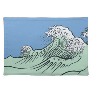 Hokusai Great Wave American MoJo Placemat Cloth Placemat