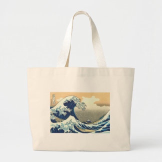 Hokusai great wave canvas bags