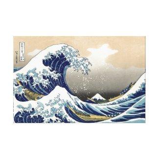Hokusai Great Wave Off Kanagawa Katsushika Tsunami Canvas Prints