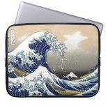 Hokusai Great Wave Off Kanagawa Katsushika Tsunami Computer Sleeve