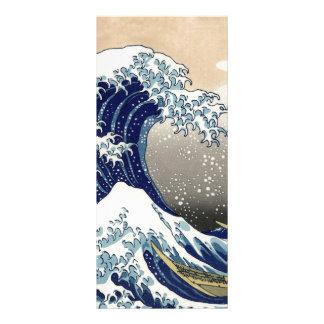 Hokusai Great Wave Off Kanagawa Katsushika Tsunami Rack Card