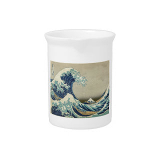 Hokusai Great Wave Off Kanagawa Pitcher