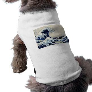 Hokusai great wave print painting shirt