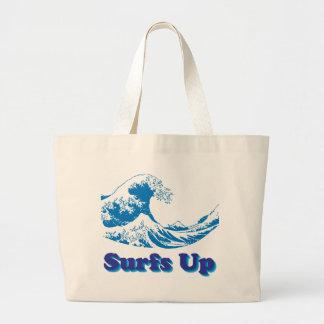 Hokusai Great Wave Surfs Up Canvas Bag