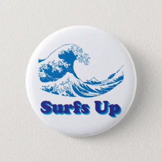 Hokusai Great Wave Surfs Up Button