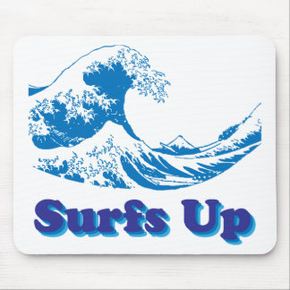 Hokusai Great Wave Surfs Up Mouse Pads