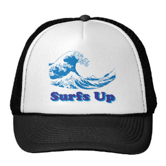 Hokusai Great Wave Surfs Up Trucker Hat