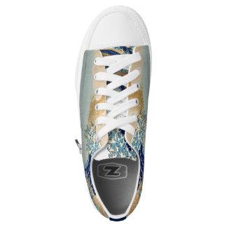 Hokusai Great Waves at Kanagawa Low-Top Sneakers