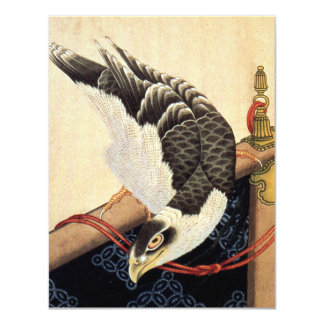 "Hokusai Hawk Invitations 4.25"" X 5.5"" Invitation Card"
