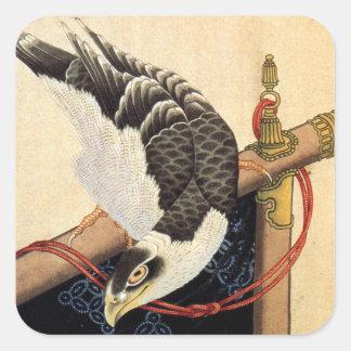Hokusai Hawk Stickers