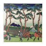 Hokusai Hodogaya en el Tokaido el monte Fuji Kyoto Tejas Ceramicas