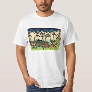 Hokusai Hodogaya en la camiseta de Tokaido