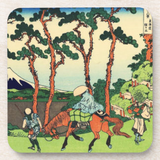 Hokusai Hodogaya on the Tokaido Coaster