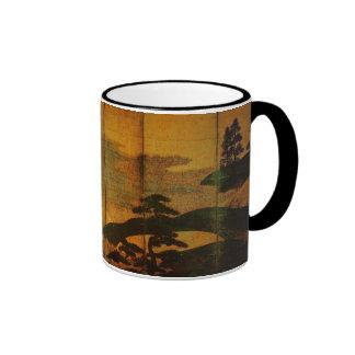 HOKUSAI Japanese Artwork Ringer Mug