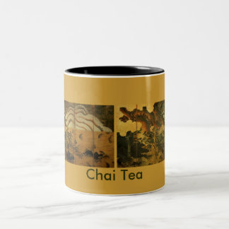 HOKUSAI Japanese Artwork Two-Tone Coffee Mug