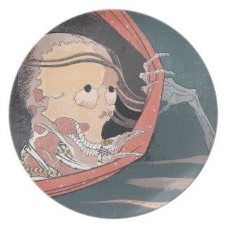 Hokusai Japanese Ghost Woodblock Hiaku-Monogatari Plate