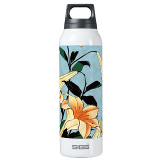 Hokusai Japanese Lilies Insulated Water Bottle