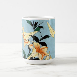 Hokusai Japanese Lilies Mug