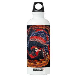 Hokusai Japanese Phoenix Aluminum Water Bottle