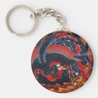 Hokusai Japanese Phoenix Key Chain