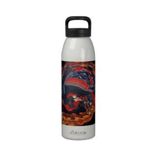 Hokusai Japanese Phoenix Water Bottle