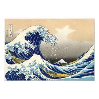 Hokusai la gran impresión de la onda cojinete