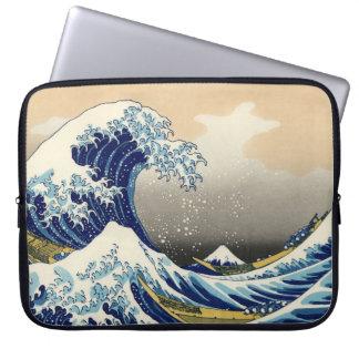 Hokusai la gran manga del ordenador portátil de la fundas computadoras