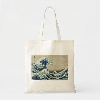 Hokusai - la gran onda de Kanagawa Bolsa Tela Barata