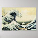 Hokusai la gran onda de Kanagawa Impresiones