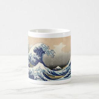 Hokusai: La gran onda de Kanagawa Taza Básica Blanca