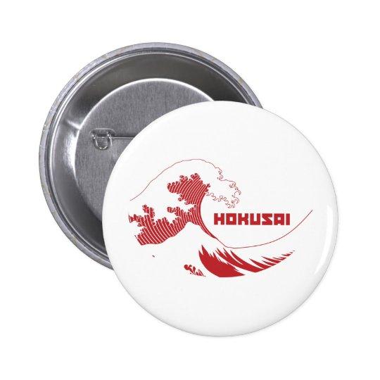 Hokusai - la gran onda pin redondo de 2 pulgadas