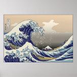 Hokusai la gran onda poster