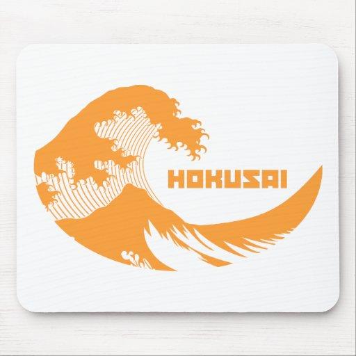 Hokusai - la gran onda tapetes de ratones