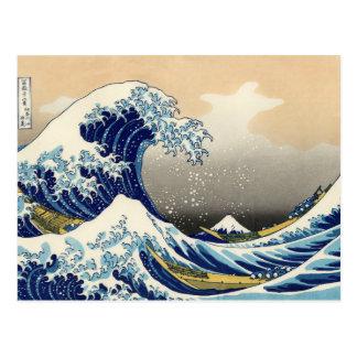 Hokusai la gran postal de la onda