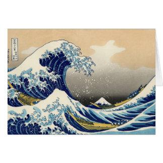 Hokusai la gran tarjeta de felicitación de la onda