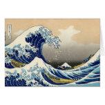 Hokusai la gran tarjeta de nota de la onda