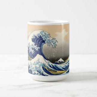 Hokusai la gran taza de la onda
