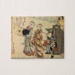 Hokusai - Lady puzzle