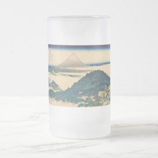 Hokusai: Los árboles de pino circulares de Aoyama Taza Cristal Mate