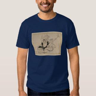Hokusai manga geisha w/ shamisen T-Shirt