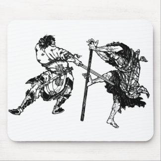 Hokusai manga samurai 1 mouse pad