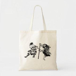 Hokusai manga samurai 1 tote bag