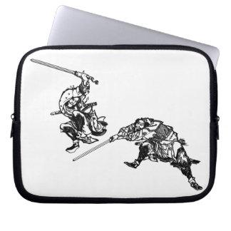 Hokusai manga samurai 2 laptop sleeve