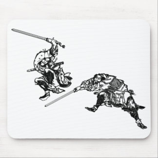 Hokusai manga samurai 2 mouse pad