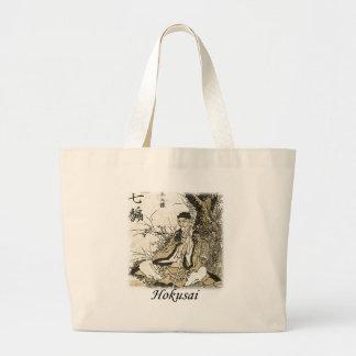 Hokusai - Matsuo Basho Large Tote Bag