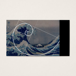 Hokusai Meets Fibonacci, Golden Ratio Business Card